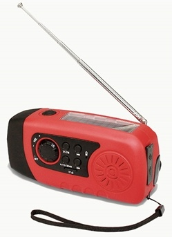 4-in-1 Hand Crank LED Flashlight & Radio by Colonial Concepts