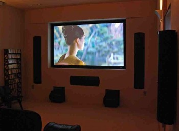 Big-screen TV is the only home theater option in smaller rooms.