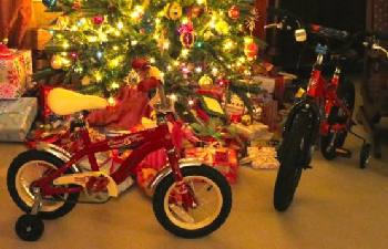 Bicycles remain the most popular kid's gift under the tree.