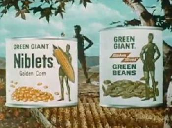 Green Giant canned vegetables, 1950s