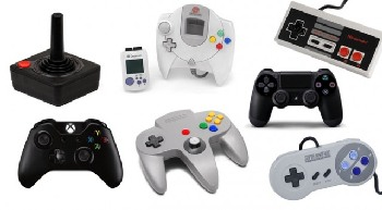 Various gaming controllers