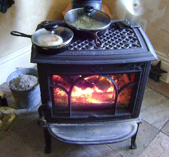 You can cook on top of your woodstove.