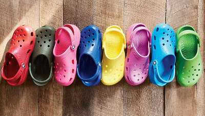 Crocs come in a rainbow of colors.