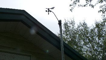 Anemometer amd wind direction vane from our Davis Weather Station