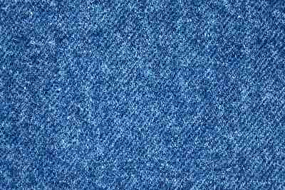 Classic blue jeans are made from cotton demim fabric.
