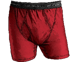 Duluth Trading Company Buck Naked Mens red boxer briefs