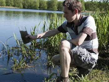 Purify water in the field with UV bottles.