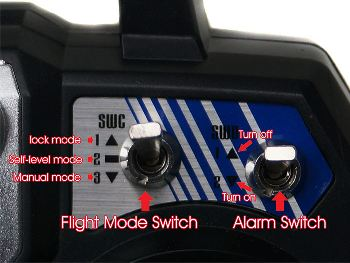 Different flight modes of a drone.
