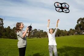 Drones are popular with men, women and children.