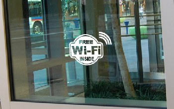 Free Wi-Fi Hotspot at a business