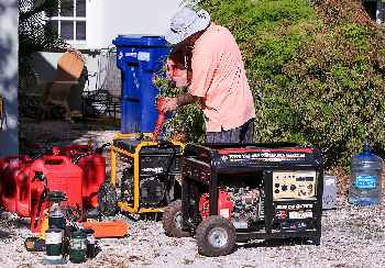 Getting generators ready for hurricane