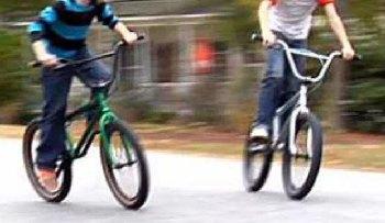 We got around on our trusty bikes when I was a kid.