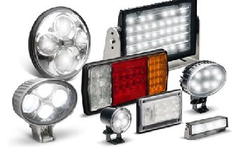 a variety of LED emergency lights