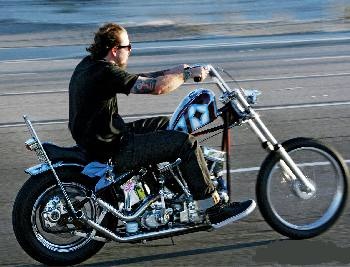 Panhead Harley in the good ole days.