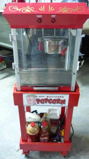 Homemade popcorn maker cart