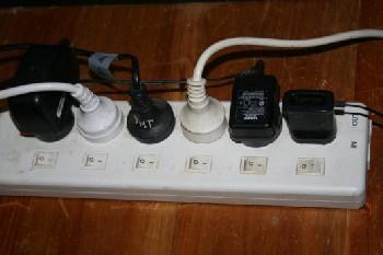 Power strip useful when running a generator