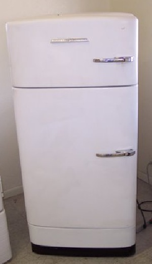 Old refrigerator 1950s