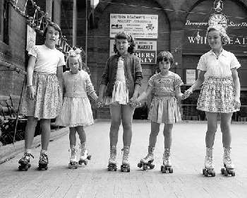 Roller skating rinks were the rage in the 60s-70s.