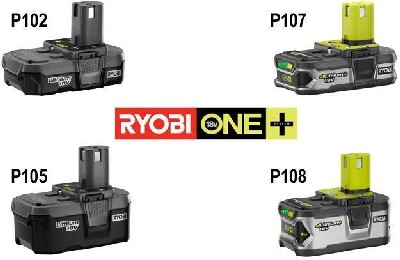 Ryobi 18v Lithium Ion Batteries