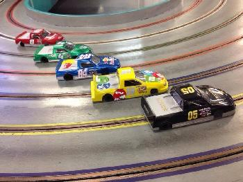 Slot car racing is fun and popular.