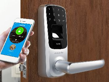 A Smart Door Lock is a great first line of defense.