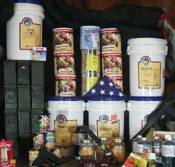 Commercially packaged survival foods supplement your stores.