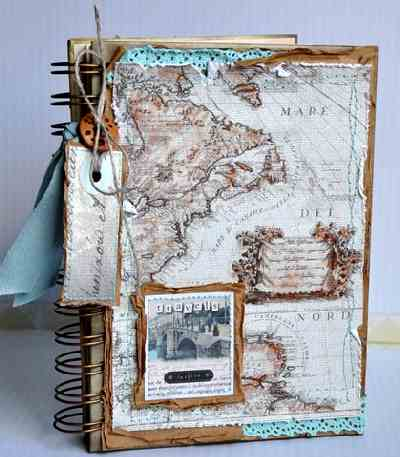 A travel album scrapbook can be fun for the whole family to create.