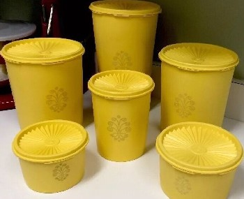 Old Tupperware canisters, 1960s