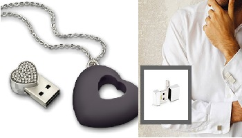 USB Necklace & Cufflinks