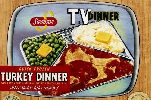 Vintage Swanson turkey TV dinner
