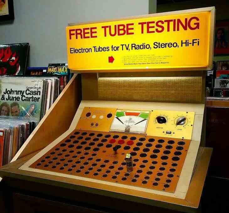Vintage TV tube tester station