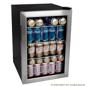 EdgeStar 84 soda can - Best glass door mini fridge