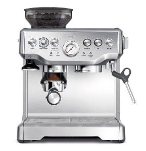 Stainless steel espresso machine by Breville
