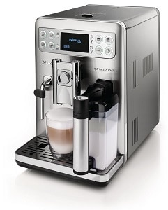 Stainless steel espresso machine by Saeco