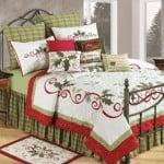 Holiday garland Christmas bedding