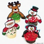 Plastic character Christmas cupcake toppers