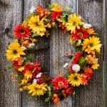 Autumn flower wreath, perfect ot greet your guests at Thanksgiving