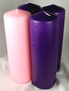 Christma Advent Pillar candle set