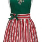Candy cane Christmas aprons