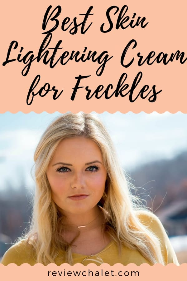Are you looking for the best skin lightening cream for freckles? Here are my top 3 choices: see which one it's best for you! #naturalbeauty #freckles #lighteningcream #skincare #beauty #beautiful