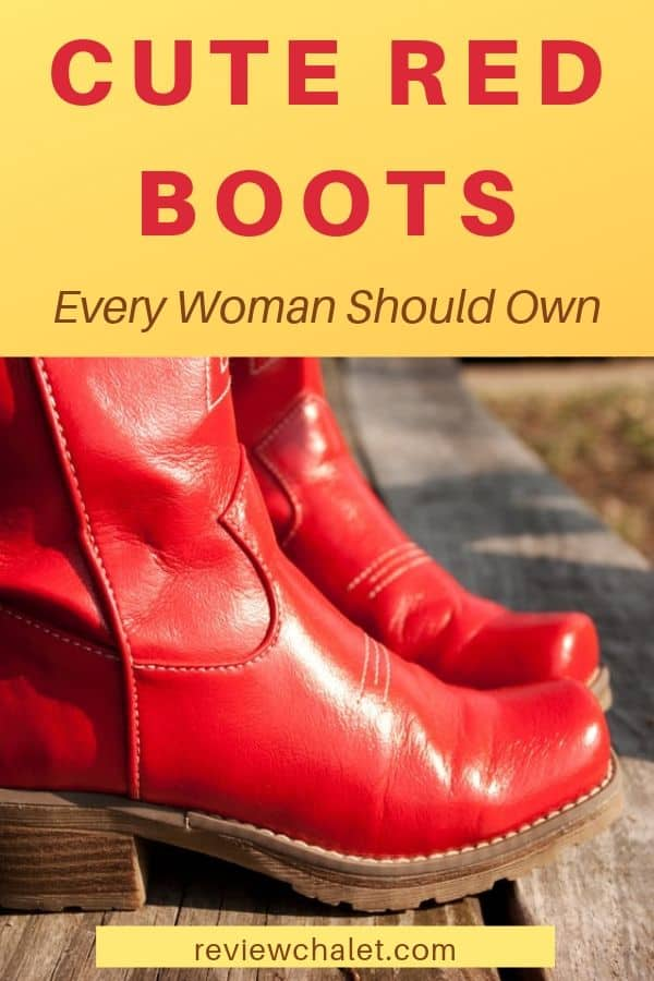 Make a bold statement with one of these cute red boots. There's something for everyone: knee highs, ankle, cowboy and more. #fashion #boots #redboots #cuteboots #red #streetstyle