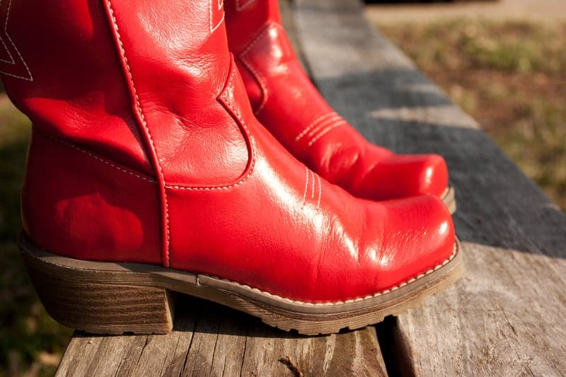 Cute red boots