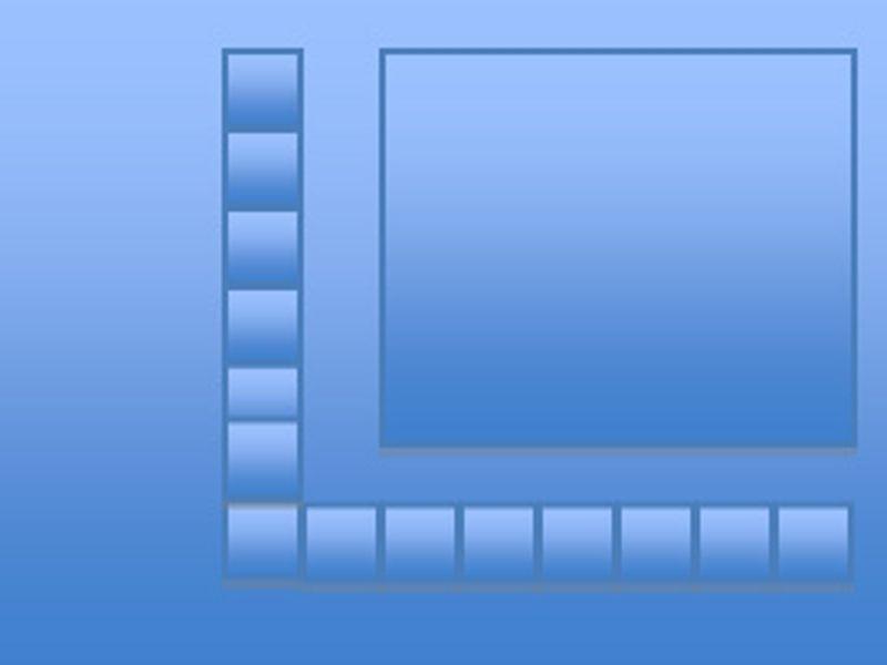 Film strip photo border
