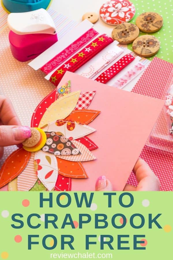 How to scrapbook for free tips and ideas #scrapbooking #crafts #crafting #hobby #hobbies #scrapbook