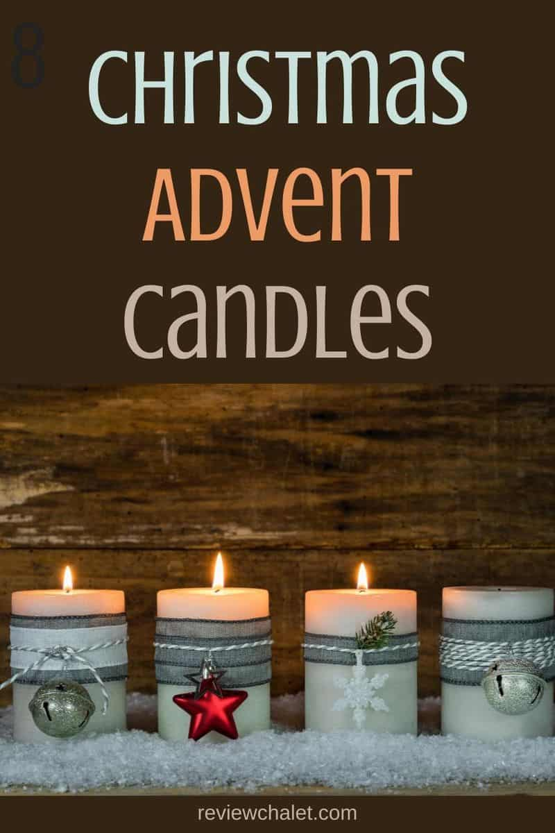Christmas advent candles - Pinterest image