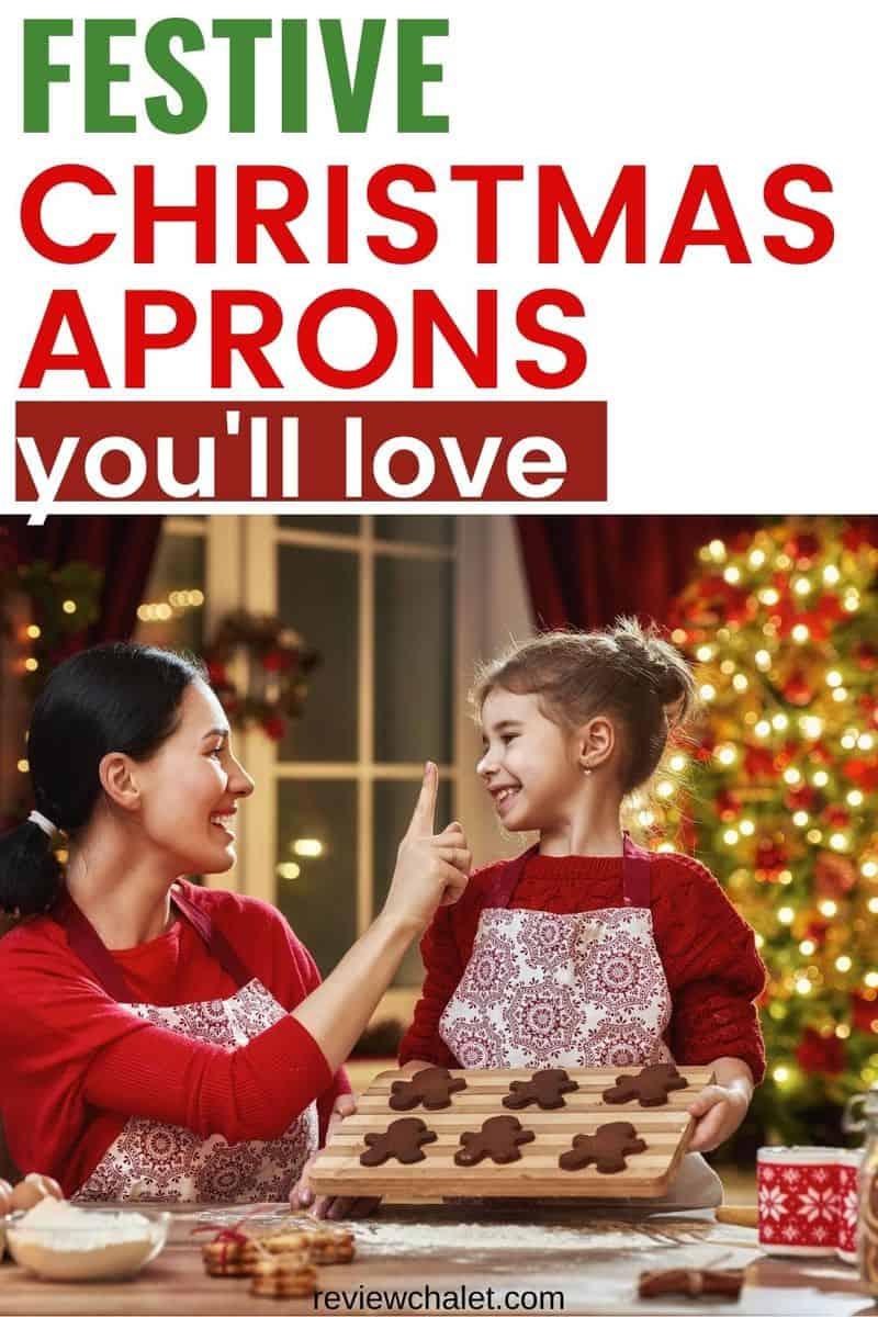 Festive Christmas aprons you'll love this holiday season - Pintererst image